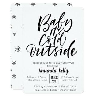 ÄNDRINGSFÄRG - modern baby showerinbjudan 12,7 X 17,8 Cm Inbjudningskort