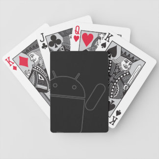 Android som vinkar leka kort spelkort