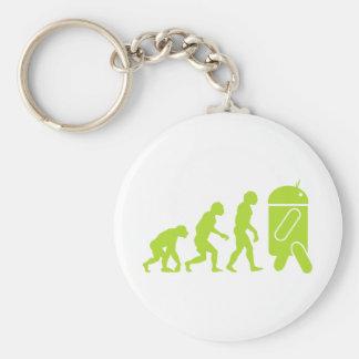 Androidevolution Rund Nyckelring