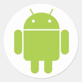 Androidklistermärke Runt Klistermärke