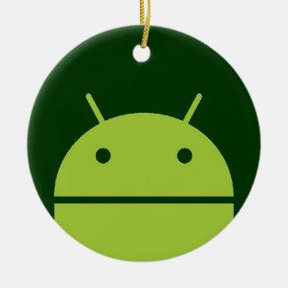 Androidprydnad Julgransprydnad Keramik