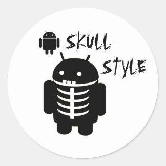 AndroidSKALLESTIL Runt Klistermärke