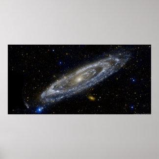 Andromedagalaxaffisch Poster