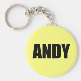 Andy Rund Nyckelring
