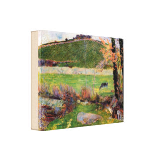Äng på banker av Aven av Paul Gauguin Canvastryck