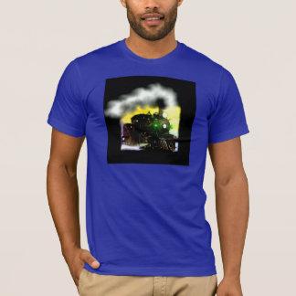 Ångatåg på skymningen t shirts