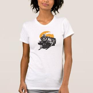Ångatågkvinna T-tröja T-shirts