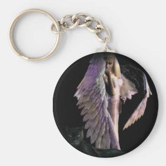 angel004 rund nyckelring