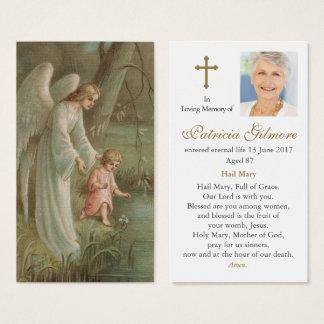 Ängel av för sympatibön för himmel det visitkort