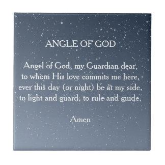 Ängel av guden kakelplatta