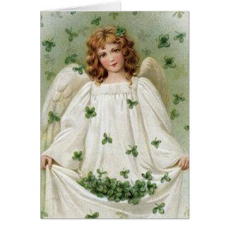 Ängel för St. som Patricks kommer med dig lycka Hälsningskort