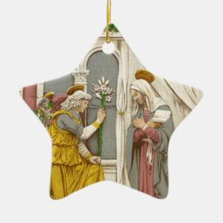 Ängel Gabriel annunciationen till Mary Julgransprydnad Keramik
