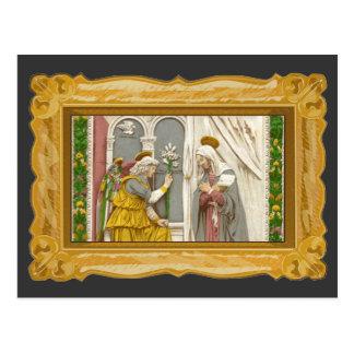Ängel Gabriel annunciationen till Mary Vykort