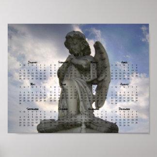 Ängel i kalendern för himmel 2015 poster