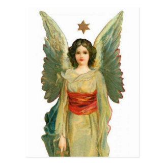 Ängel med den guld- stjärnan vykort