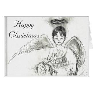 Ängel Noah Taylor, lycklig jul Hälsningskort