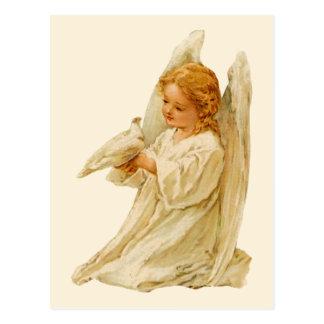 Ängel och duva - påsk vykort