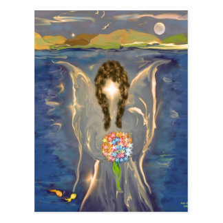 Ängel på vatten vykort
