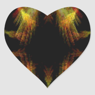 Ängel påskyndad abstrakt hjärtformat klistermärke