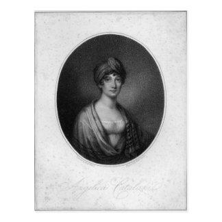 Angelica Catalani som inristas av Antoine Cardon Vykort