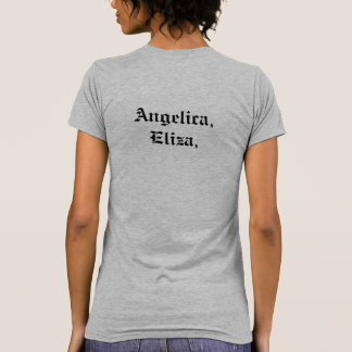 Angelica, Eliza och Peggy. Hamilton Tee Shirts