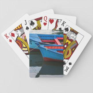 Angelmo hamn som fiskar boats. casinokort