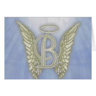 ÄngelMonogram för brev B OBS Kort
