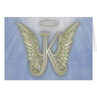 ÄngelMonogram för brev K OBS Kort