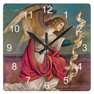 Ängeln Gabriel Fyrkantig Klocka