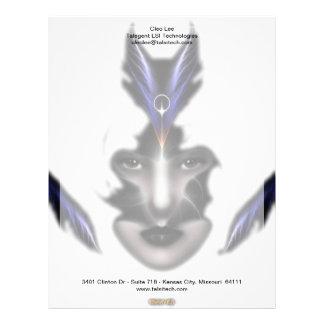 Ängeln synar vingar av konst för vindISO-fractalen Brevhuvud