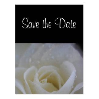 Ängelrospara daterabröllopmeddelandet vykort