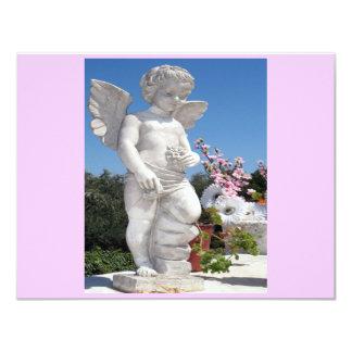 Ängelstaty i rosor II 10,8 X 14 Cm Inbjudningskort
