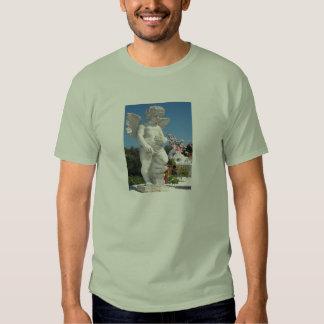 Ängelstaty i stengrönt tee shirts