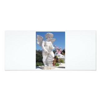 Ängelstaty i vit V 10,2 X 23,5 Cm Inbjudningskort