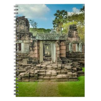 Angkor Wat tempelCambodja UNESCO Anteckningsbok Med Spiral