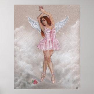 Änglalik Ballerinaaffisch Poster