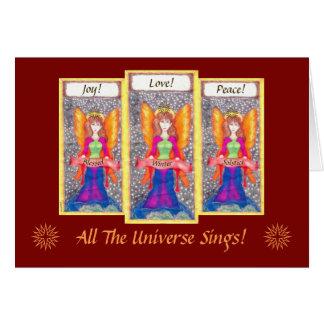 Änglar av den jordYule solsticen Hälsningskort