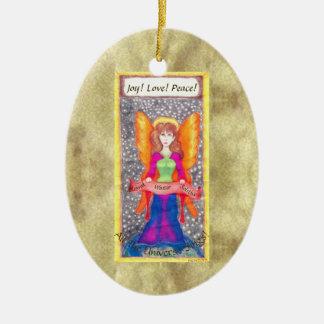 Änglar av den jordYule solsticen Julgransprydnad Keramik