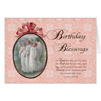 Änglar för Scripturefödelsedagvälsignelser Hälsningskort