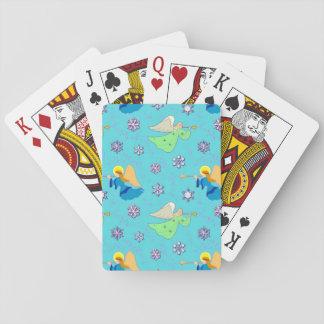 Änglar i blått, ljuv snöflingor, trumpetar casinokort