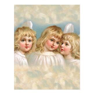 Änglar i en pastellfärgad himmel brevhuvud