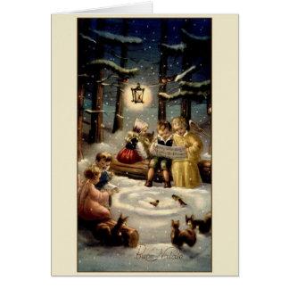 ÄnglarBuon Natale för vintage italiensk julkort Hälsningskort
