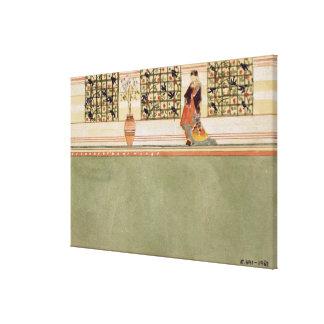 Anglo-Japan väggdesign, c.1860 (w/c & rita nollan Canvastryck