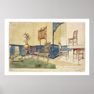 Anglo japanskt stilmöblemang planlägger vid Edward Poster