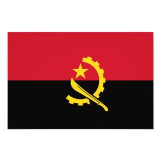 Angola - angolansk flagga fotografier