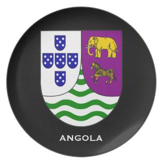 Angola pläterar den historiska souvenir tallrik