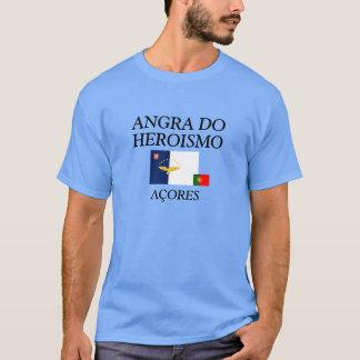 Angra gör Heroismo den Açores färgade skjortan Tee Shirt
