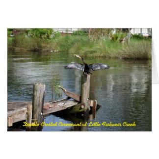 Anhinga på lite Fishweir bäck Hälsningskort