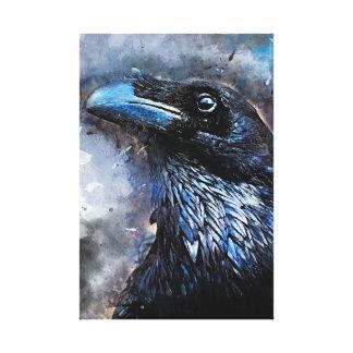 #animals för #bird för kråkakonst#crow canvastryck