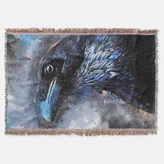 #animals för #bird för kråkakonst#crow filt